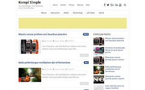 Free Blogger Template - Kompi Simple