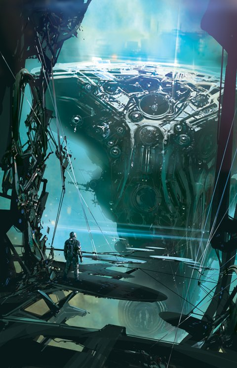 Stephan Martiniere arte ilustrações ficção científica capas livros espacial futurista robôs