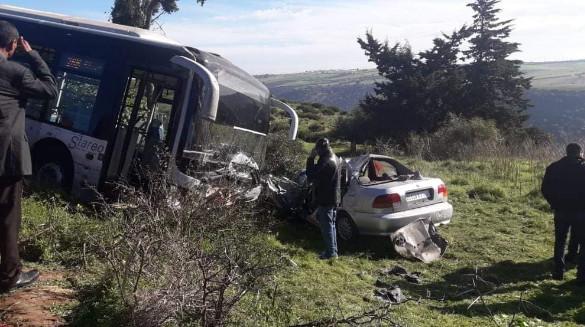 مصرع شخص في حادث سير مروع بتمارة إثر اصطدام 'توبيس' بسيارة !