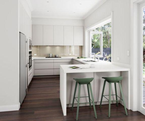 Desain Meja Dapur Island  70 desain interior dapur minimalis bentuk u rumahku unik