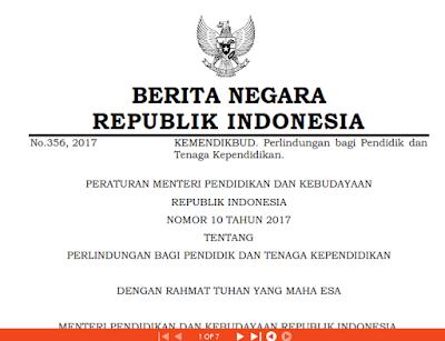 Permendikbud No 10 Tahun 2017