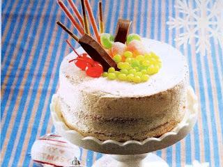 Gambar Resep Cake vanili Krim Moka