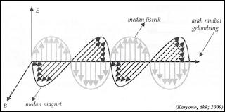 gelombang elektromagnetik membawa energi dalam bentuk medan listrik dan medan magnet