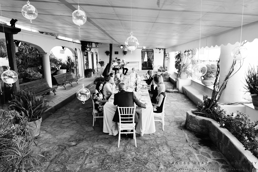 Wedding party in Positano
