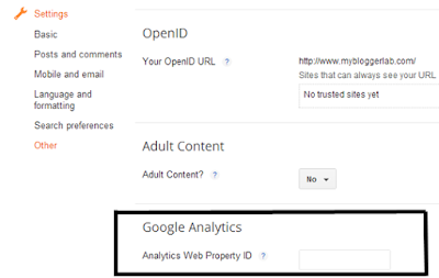 Cara Memasang Tracking Code Google Analytic ke Blog Blogspot