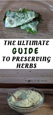 Preserved herbs in oil and salt