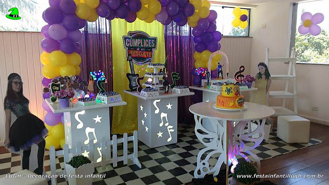 Decoração mesa de aniversário Cúmplices de um Resgate