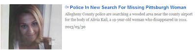 Removed image of Alivia's missing person article