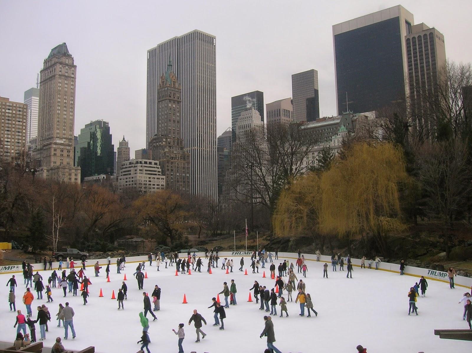 ice skating in central park in new york city