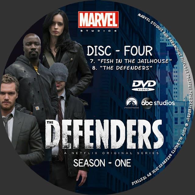 The Defenders Season 1 Disc 4 DVD Label