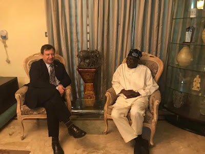 Image result for Tinubu meets with British high commissioner