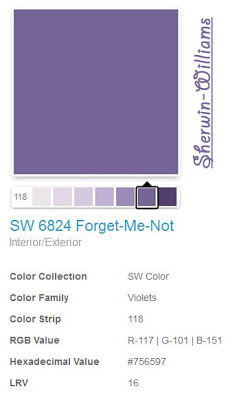 Sherwin-Williams SW6824 Forget-Me-Not Paint Color