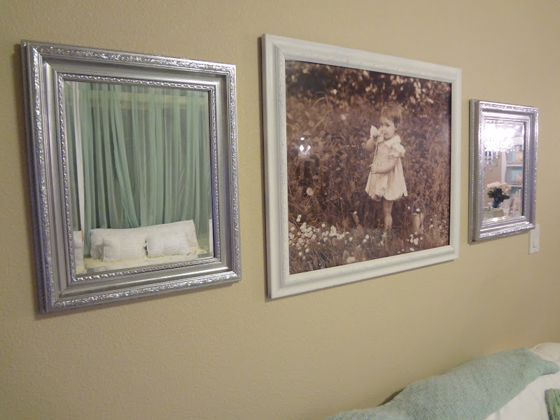 Gold Bed Frame Created With Spray Paint: Shabby Chic: Silver Spray Paint