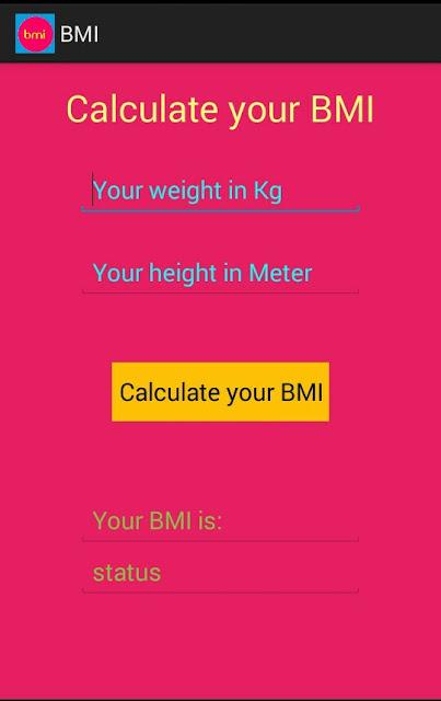 BMI-Calculator-Android-App