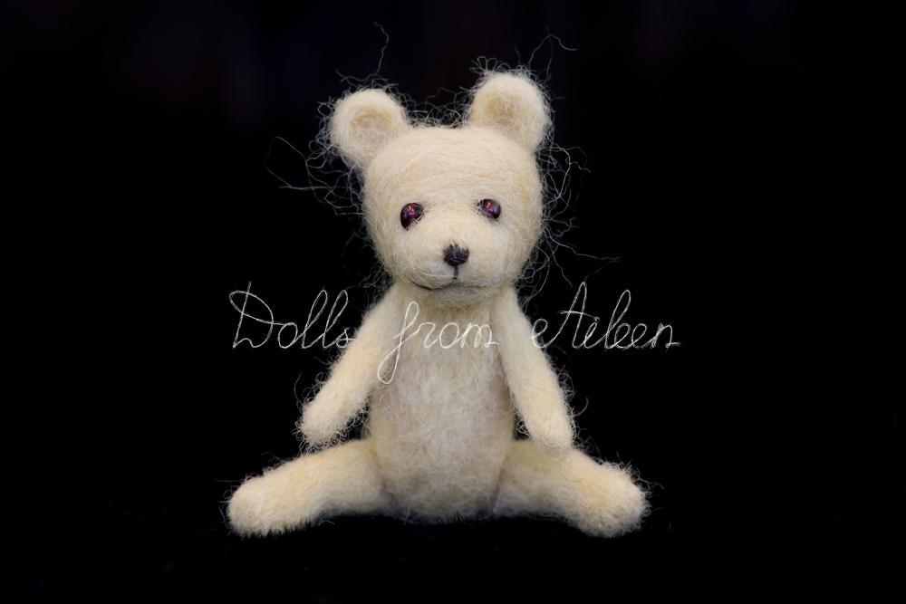 OOAK mini needle felted teddy bear