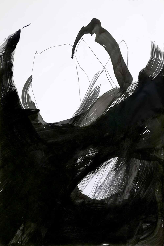 Graphite et fusain sur papier, 80 x 120 cm, 5 avr. 18 © Annik Reymond