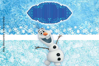 Olaf Smiling: Free Printable Invitations.
