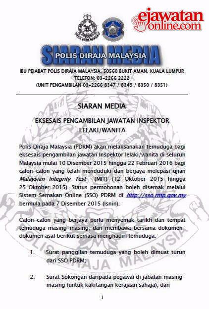 Contoh Soalan Temuduga Inspektor Polis - Kuora x