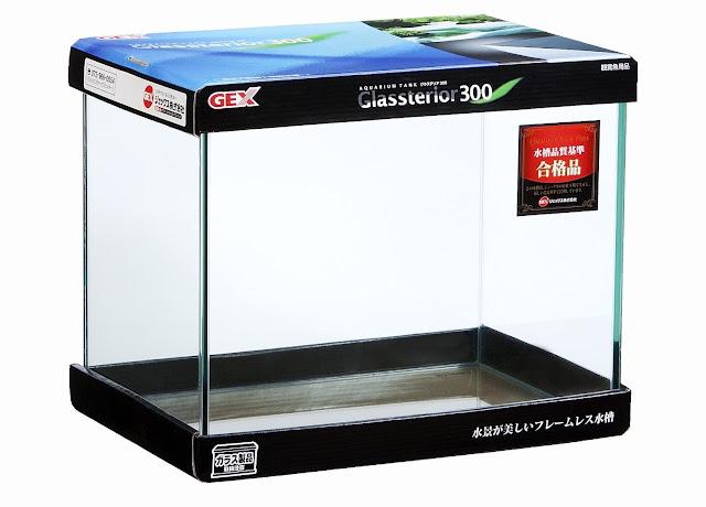 Harga Aquarium Merk GEX Glasterior 300 - Budidaya Ikan