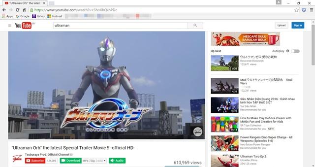 Menonton YouTube Secara Selamat Dengan Salam Browser