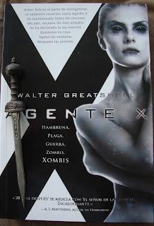 Portada del libro Agente X, de Walter Greatshell