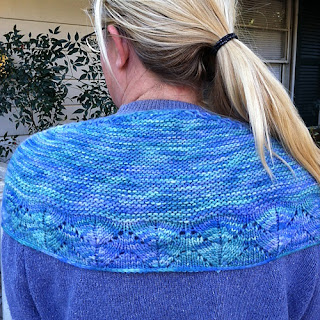 Free one skein shawl knitting pattern