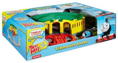 JUGUETES - THOMAS Y SUS AMIGOS Cocheras de tidmouth : trenes - Locomotoras Fisher-Price | Mattel DGK96 SERIE INFANTIL CLAN TV Edad: +3 años | Comprar en Amazon España