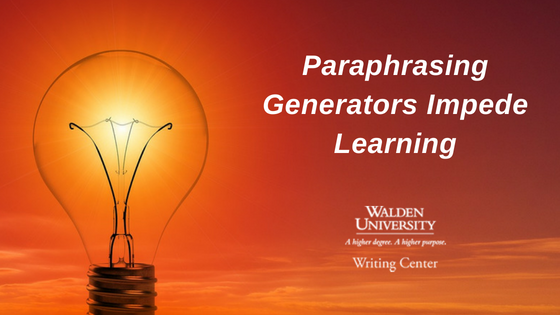 Paraphrasing generators impede learning
