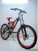 3 Sepeda Gunung EVERGREEN Quakeproof Bike 1.0 - Dual Suspension 26 Inci