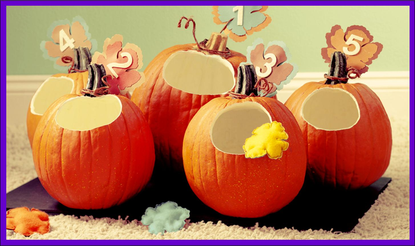 It's Written on the Wall: Halloween Pumpkin Toss Game-Using Foam ...