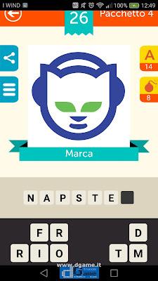 Iconica Italia Pop Logo Quiz soluzione pacchetto 4 livelli 26-75