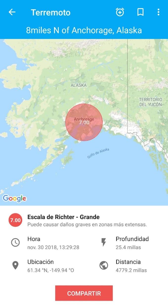Alerta de Tsunami para Alaska tras terremoto de 7,0