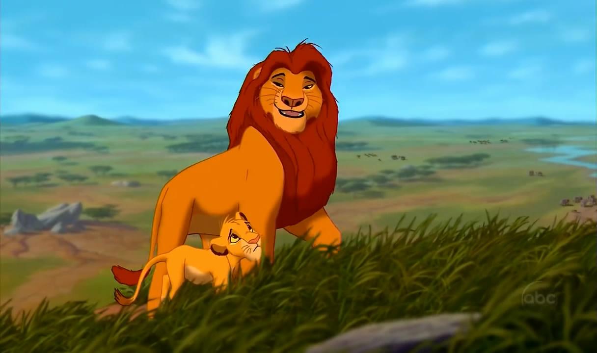 Simba and Mufasa The Lion King 1994 animatedfilmreviews.filminspector.com