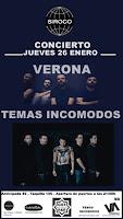 Concierto de Verona y Temas Incómodos en Siroco Club