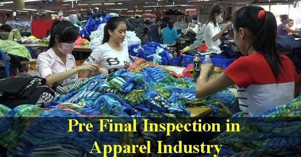 Pre-final inspection in garment industry