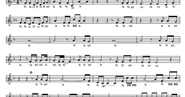 Musica e spartiti gratis per flauto dolce faded - Aggiungi un posto a tavola accordi ...