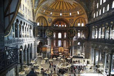 Interior del Museo de Santa Sofía, Estambul