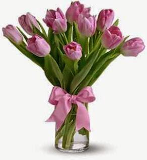 Hand Bouquet Bunga Tulip