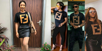 Tonto Dikeh, Tiwa Savage, Davido and Miss Assurance, Chioma