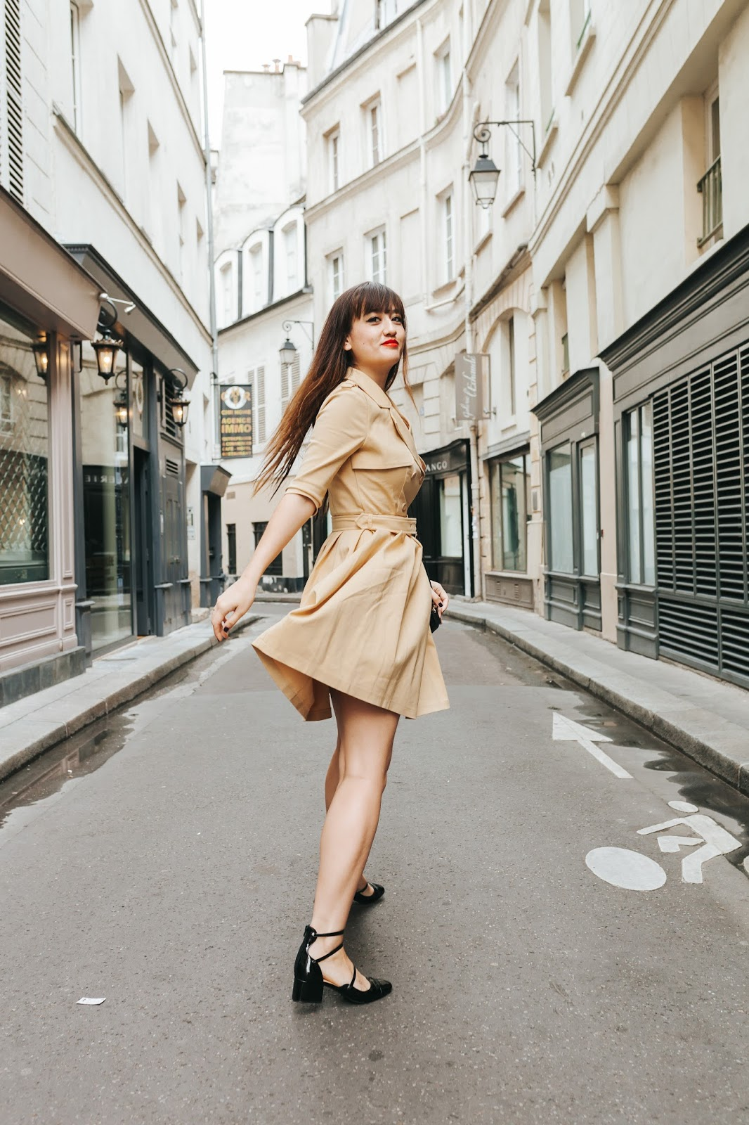 parisian fashion blogger, look, style, mode, chic, trench dress, chic wish, meetmeinparee