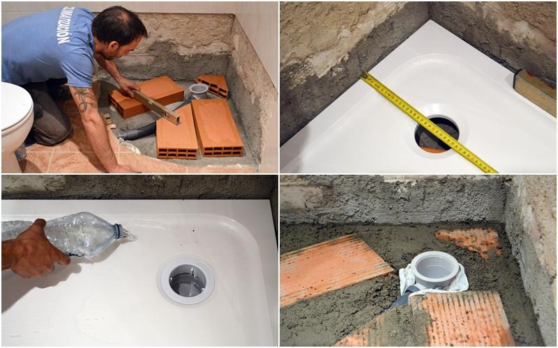 C mo instalar un plato de ducha y una mampara comunidad - Como colocar un plato de ducha de resina ...
