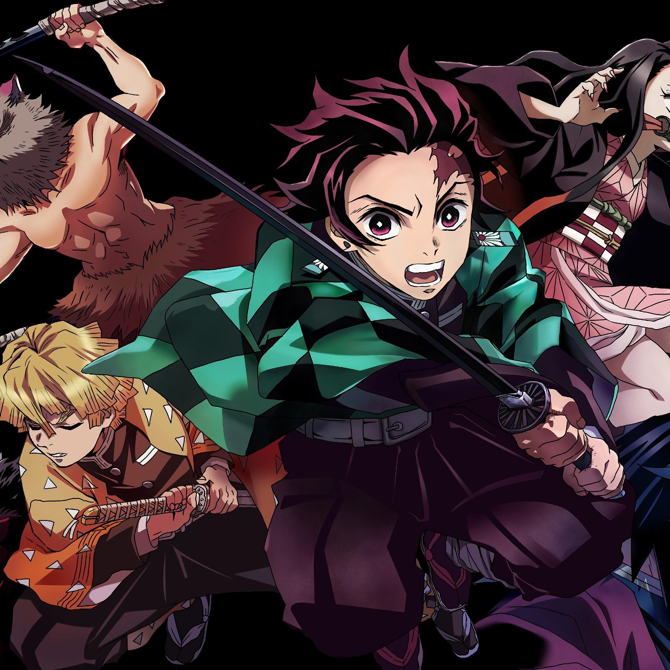 Kimetsu No Yaiba, Characters, Tanjirou, Nezuko, Zenitsu