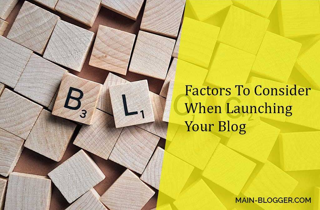 tips before launching a blog