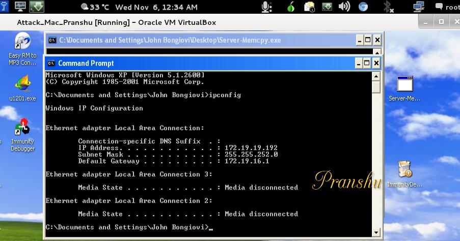 Vulnerable Server Testing