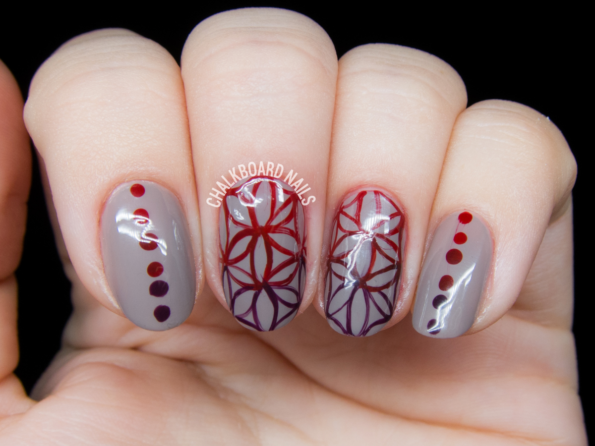 Flower of life nail art by @chalkboardnails