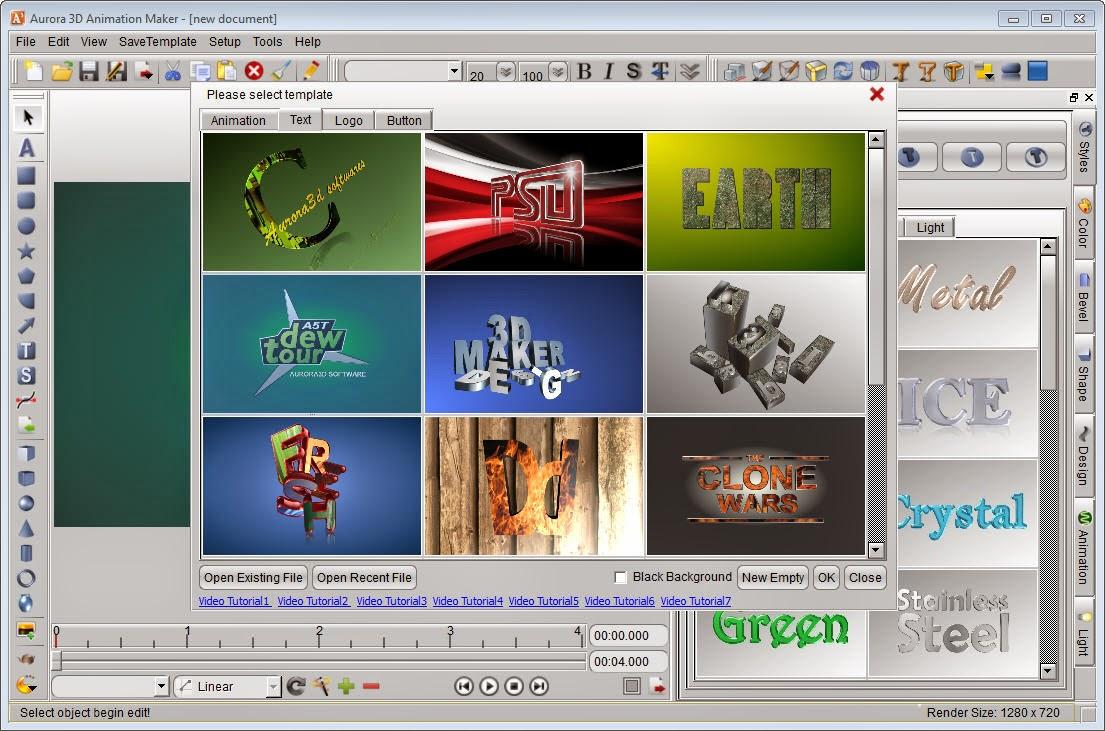 Aurora 3D Animation Maker Software / Aplikasi Untuk Membuat Animasi