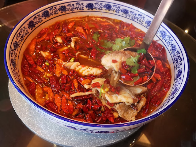 Braised Garoupa Fish Fillet in Chili Oil Soup