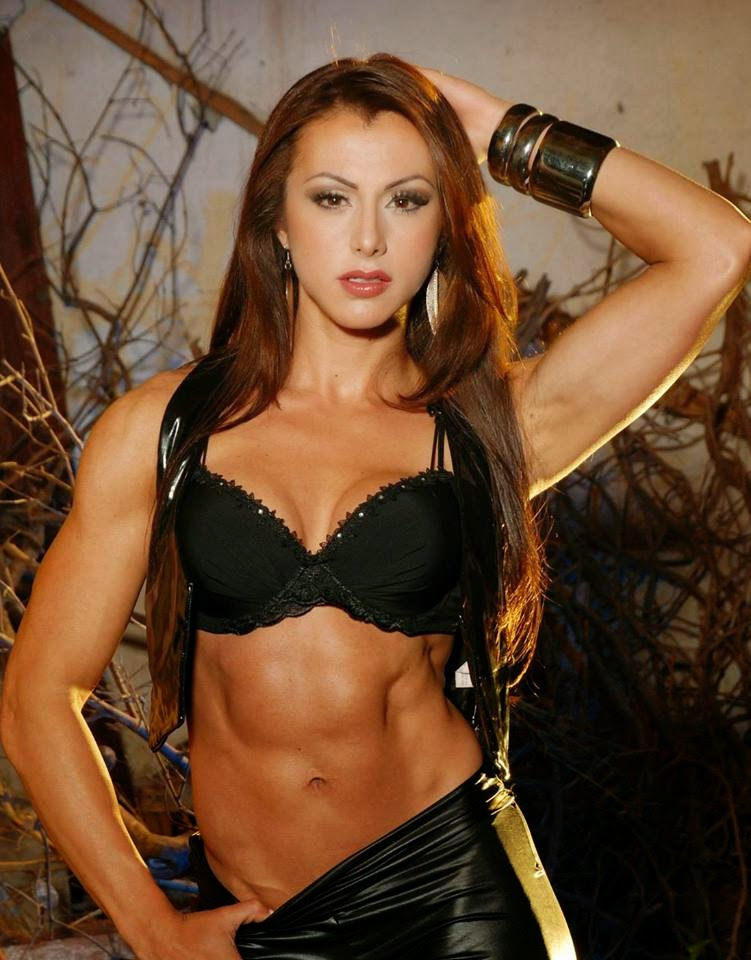 Female model woman bodybuilding