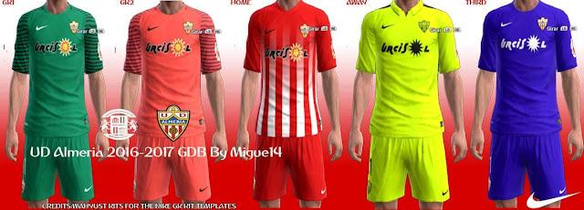 PES 2013 UD Almería Kit Season 2016-2017