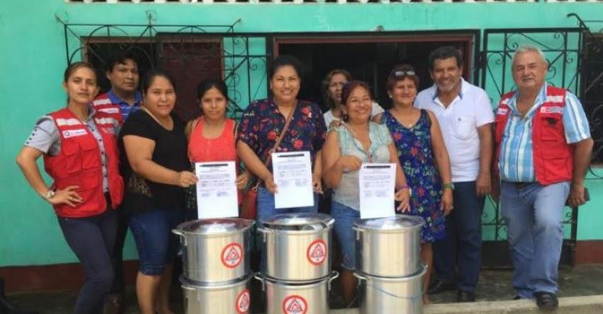 MIDIS - Qali Warma entrega enseres a instituciones educativas del distrito de Las Amazonas para complementar el servicio alimentario - www.qaliwarma.gob.pe